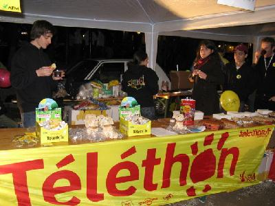 Stand des étudiants de Grenoble INP au Téléthon 2008