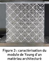 Caractérisation du module de Young d'un matériau architecturé