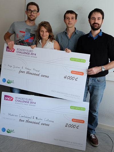 G-SCOP : 2 prix sur 3 à la finale du challenge international EURO/ROADEF 2014
