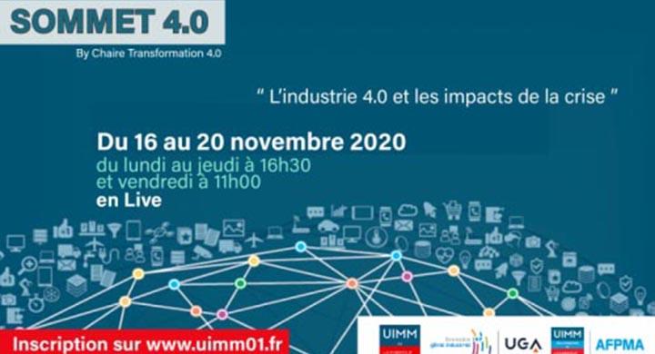 Sommet 4.0 - L'industrie 4.0 et les impacts de la crise / by chaire Transformation 4.0 de UIMM Ain et Grenoble INP - Génie Industriel